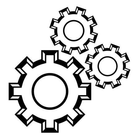 Gears turning vector icon Banco de Imagens - 49669901