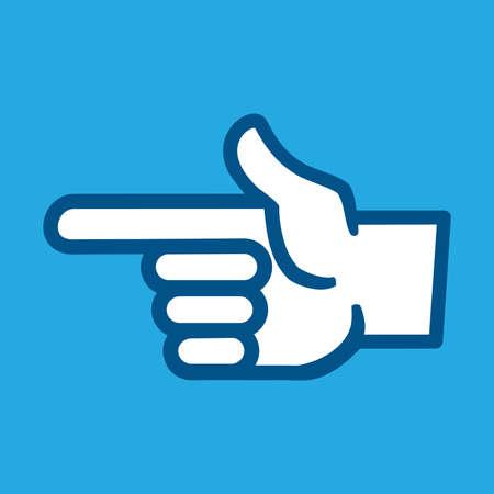 the finger: Finger Point Vector Icon Illustration