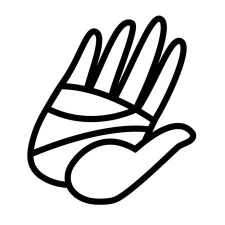 hand touch: Hand vector icon