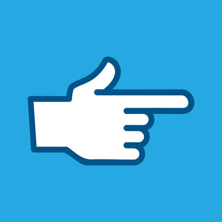 Finger Point Vector Icon Illustration