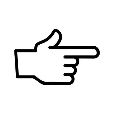 intimidate: Finger Point Vector Icon Illustration