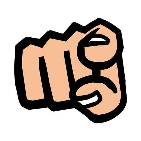 finger point: Finger Point Vector Icon Illustration