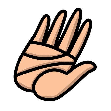 Hand vector icoon