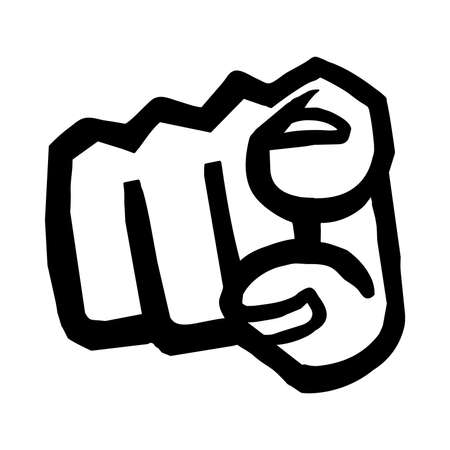 to prefer: Finger Point Vector Icon Illustration