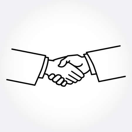 negotiating: Handshake vector illustration