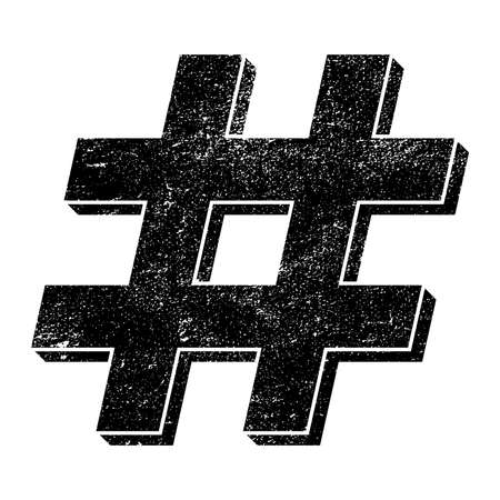 commenting: Hashtag vector icon