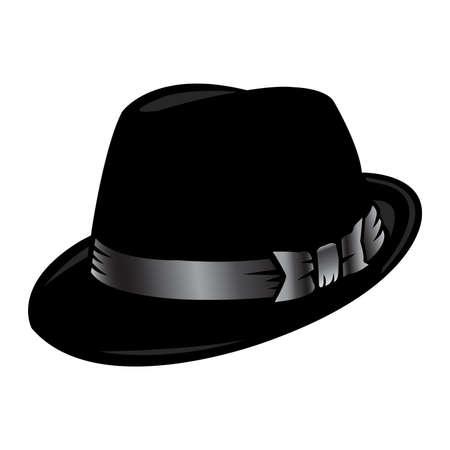 fedora: Vector illustration black fedora hat Illustration
