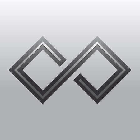 bucle: Símbolo Loop Infinito Vectores