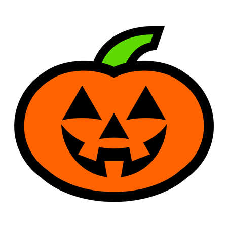 glowing carved: Jack O Lantern Pumpkin Vector Icon