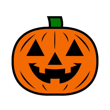 Jack O Lantern Pumpkin Vector Icon