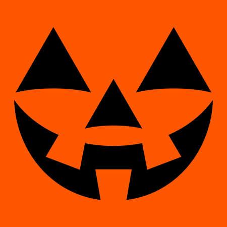 jack o   lantern: Jack O Lantern Pumpkin Vector Icon