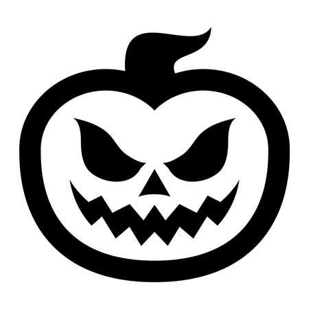 jack o' lantern: Jack O Lantern Pumpkin Vector Icon