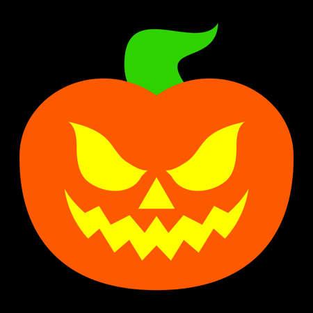 Jack O Lantern Pumpkin Vector Icon Stock Vector - 49650782