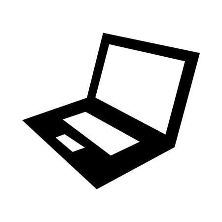 open notebook: Laptop Computer Vector Icon Illustration