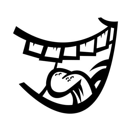 Laughing Mouth Vector Icon Illustration