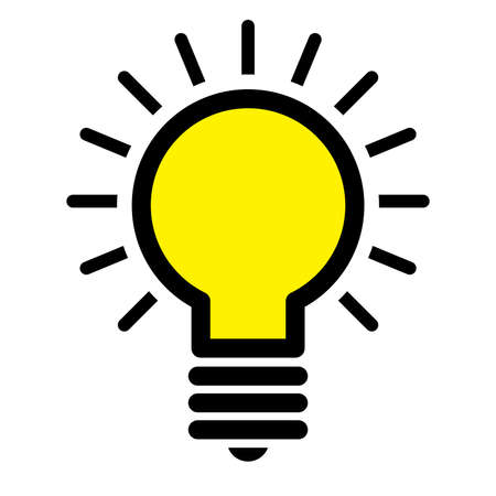 Lightbulb Vector Icon Ilustrace