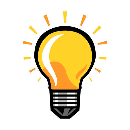 Lightbulb Vector Icon Vettoriali