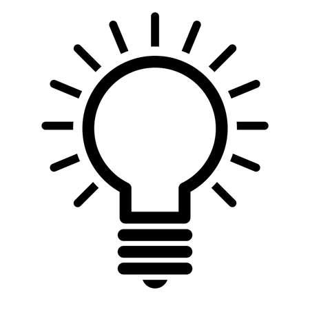 Icona di vettore della lampadina Archivio Fotografico - 49650872