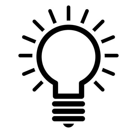 solutions icon: Lightbulb Vector Icon Illustration