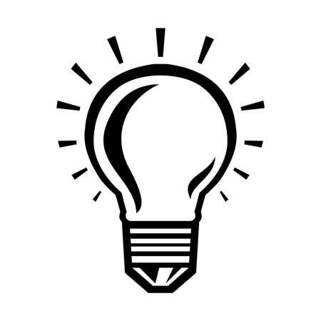 Lightbulb Vector Icon Ilustracja