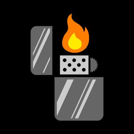 butane: Lighter Vector Icon Illustration