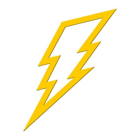 bolt: Lightning bolt vector icon