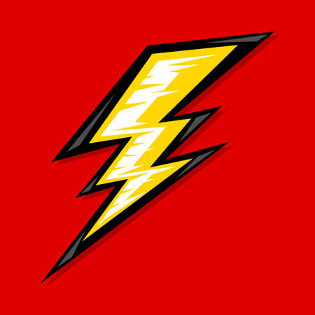 lightning storm: Lightning bolt vector icon