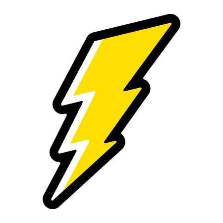 lightning bolt: Lightning bolt vector icon