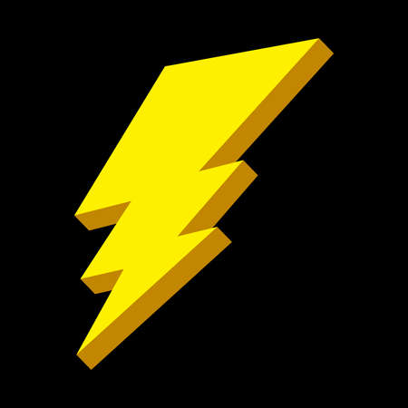 thunder storm: Lightning bolt vector icon