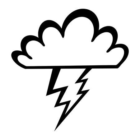 Storm cloud lightning bolt