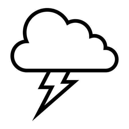 storm cloud: Storm cloud lightning bolt