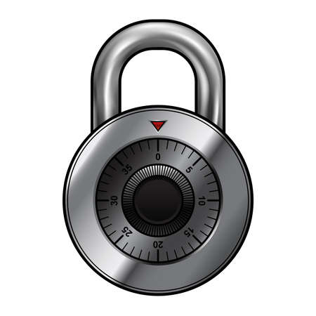 combination: Combination lock vector illustration