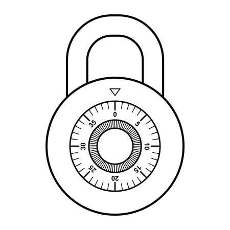 Combination lock vector illustration
