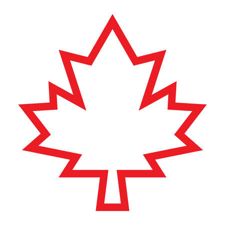 Maple Leaf Vector Icon Illustration