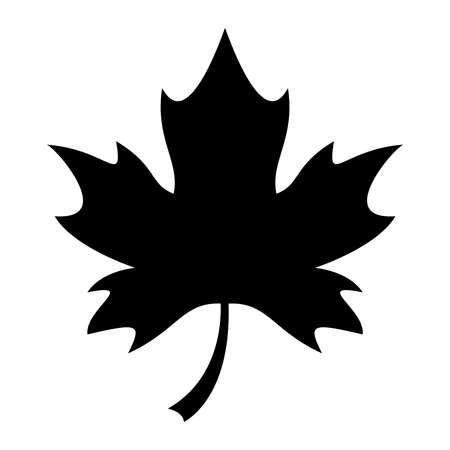 Maple Leaf Vector Icon Illustration