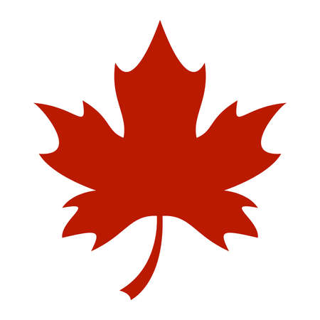 leaf: Maple Leaf Vector Icon Illustration