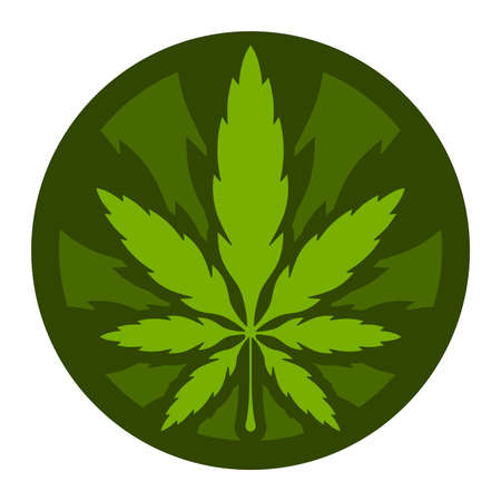 indica: Marijuana Pot Weed Leaf Symbol