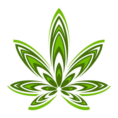 medical plant: Marijuana Pot Weed Leaf Symbol