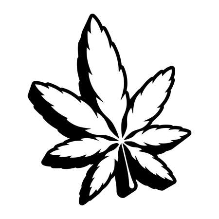 Marijuana Pot Grasblatt-Symbol Standard-Bild - 49650659