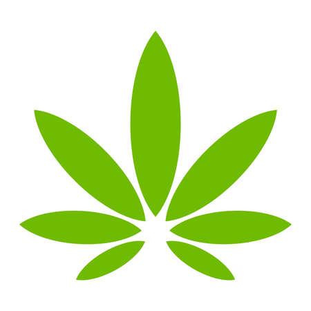 hemp: Marijuana Pot Grasblatt-Symbol Illustration