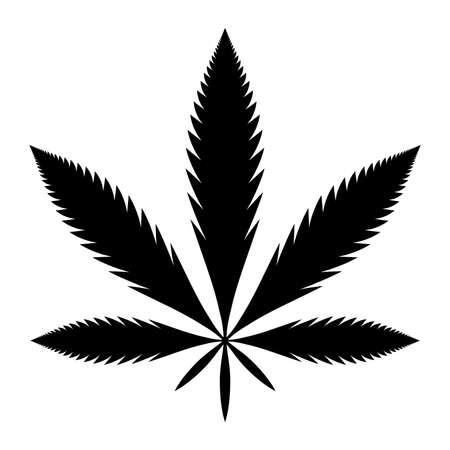 marihuana leaf: La marihuana Pot Weed S�mbolo de la hoja