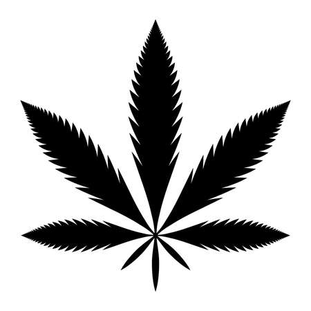 cannabis leaf: Marijuana Pot Weed Leaf Symbol