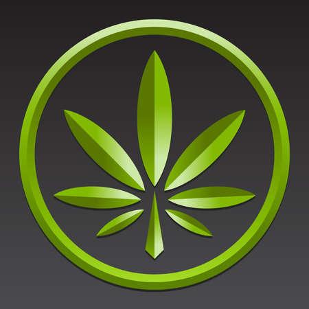 marihuana: La marihuana Pot Weed Símbolo de la hoja