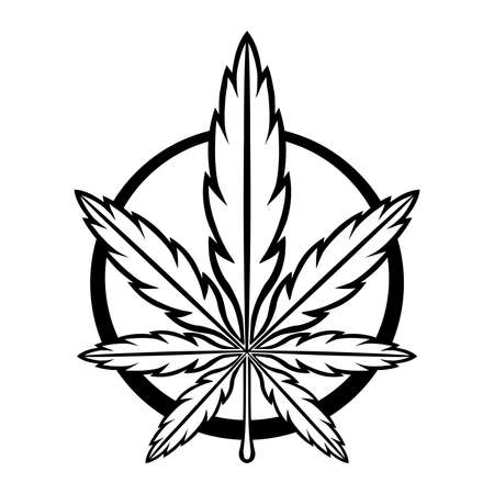 hashish: Marijuana Pot Weed Leaf Symbol