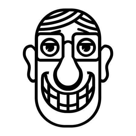 rimmed: Nerd cartoon face