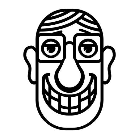 Nerd cartoon face