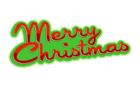 navidad elegante: Feliz gráfico fuente del texto de Navidad Vectores