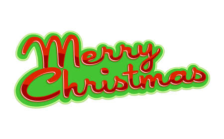 retro christmas: Merry Christmas text font graphic Illustration