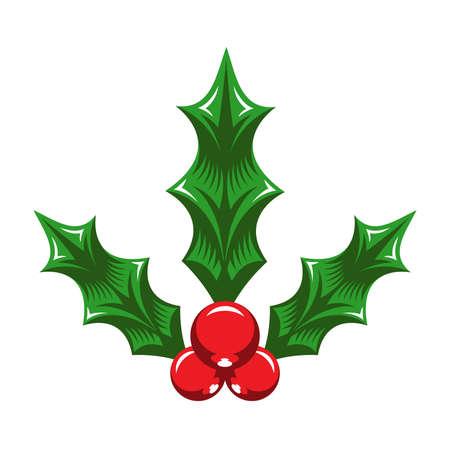 muerdago: El mu�rdago de Navidad Vectores