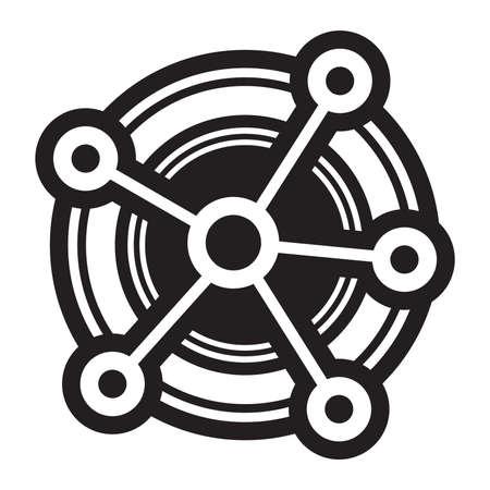 media network: Networking Diagram Vector Icon Illustration